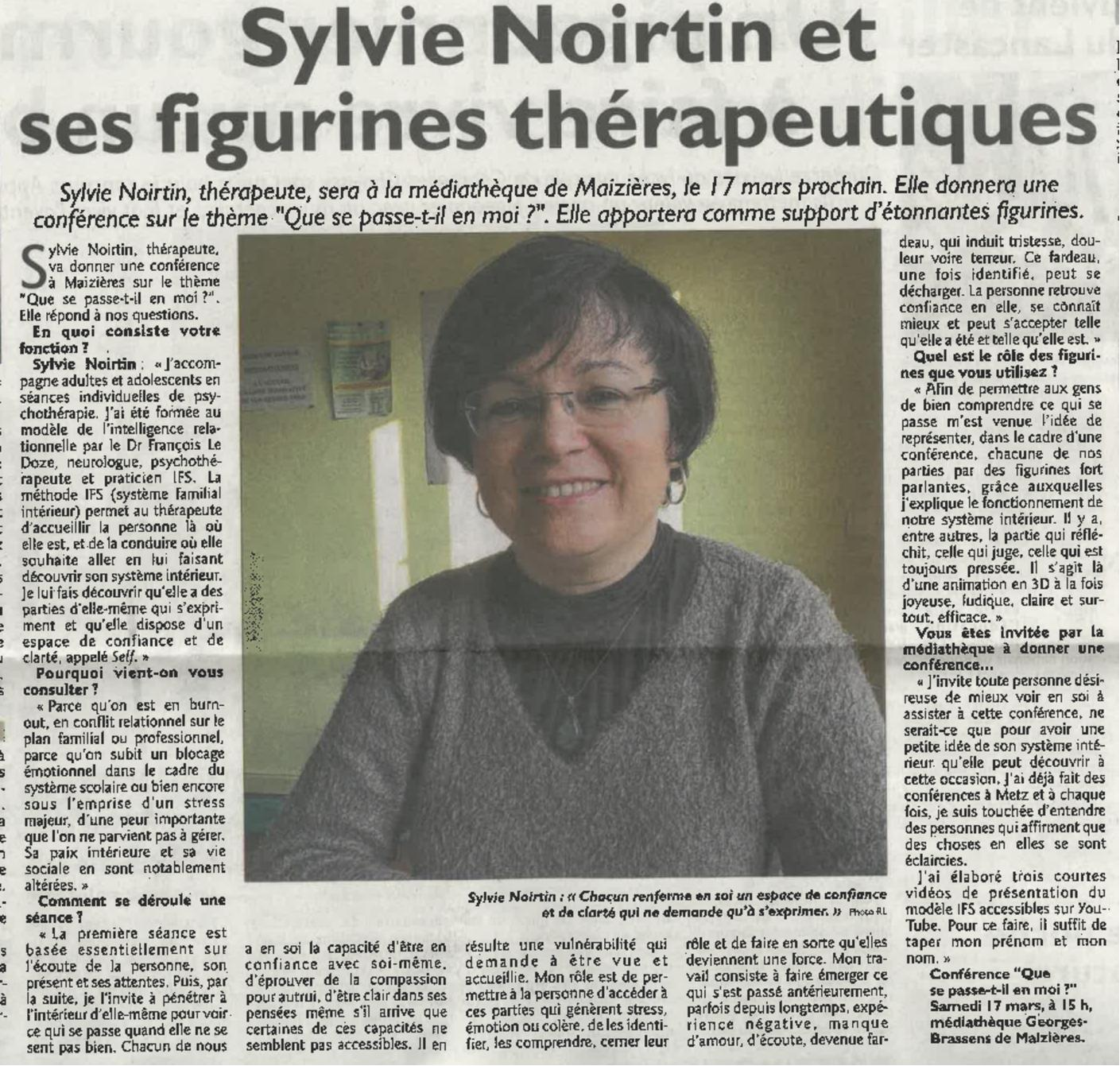 Article le Républicain Lorrain 27/02/2018